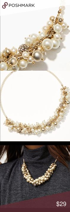 Necklace Pearlized bauble necklace LOFT Jewelry Necklaces