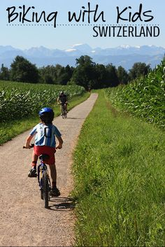 Tips and tricks for biking with kids in Switzerland including best family bike routes, where to rent kids bikes, and taking bikes on public transportation. Crescent Lake, Falling In Love Again, Kids Bike, Public Transport, Kids And Parenting, Biking, Family Travel, Touring, Adventure Travel