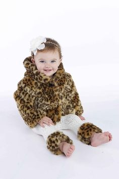 2826a4b203c Leopard Faux Fur Coat on the baby! Faux Fur Hooded Coat