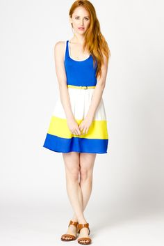 Sherry Color Block Dress