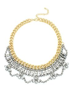 Look at this Rhinestone & Goldtone Love Necklace Statement Necklace on #zulily today!