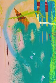 Small Series 3 2013 Acrylic and spray paint on canvas 15x22 inches H • E • N • S • E