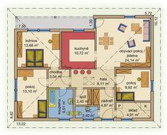Rodinný dům Bungalov Line 104 – dřevostavba, bungalov na klíč