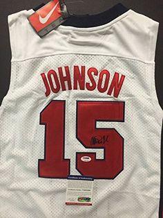 5258d4b8382 Autographed/Signed Earvin Magic Johnson Dream Team USA Olympics Nike  Authentic Jersey PSA/DNA COA