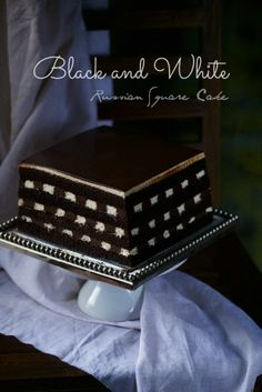 masam manis: RUSIAN BLACK AND WHITE CAKE