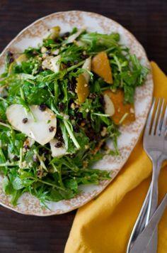 Bosc Pear, Currant, and Hazelnut Salad