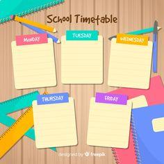 Timetable Template, School Timetable, Design Plano, Doodle Frames, Schedule Design, Microsoft Word 2007, School Clipart, School Planner, Weekly Planner Printable