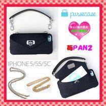 国内発送☆LA発pursecase☆バッグ型ケースLEATHER iPhone5/5S/5C