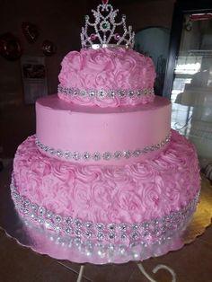 Birthday Cake Roses, Sweet 16 Birthday Cake, Elegant Birthday Cakes, Birthday Cakes For Women, Birthday Cake Girls, Beautiful Cakes, Amazing Cakes, Sweet 15 Cakes, Girly Cakes