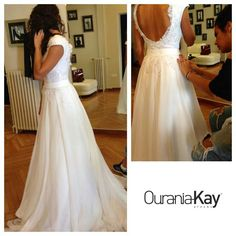 Wedding dress by Ourania Kay, Athens, Greece
