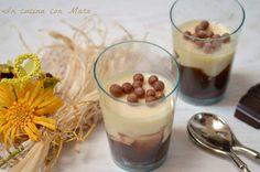 Bicchierini di crema al cioccolato e mascarpone