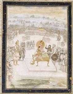Shah Shuja and his son Sultan Zaynul-Abidin , 1658.