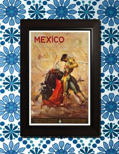 Mexico+Travel+Poster++3+sizes+available+one+by+VintageUnitedStates,+$7.00