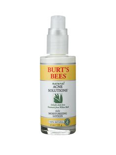 Burt's Bees Natural Acne Solutions Moisturizing Lotion ($17.90) - This lotion treats acne by gently unclogging pores with 1 percent salicylic acid and soothing skin with witch hazel and hops.