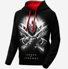 Zed League of Legends com capuz para homens LOL jogo camisola preta