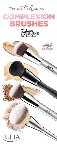 IT Cosmetics Brushes for Ulta: Soft, high-quality makeup brushes for highlighting, contouring, blending and more for tons of flawless looks.
