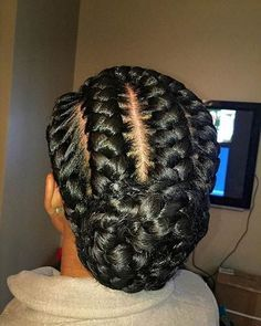 Goddess Braids Low Bun