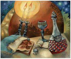 Shabbat meal table