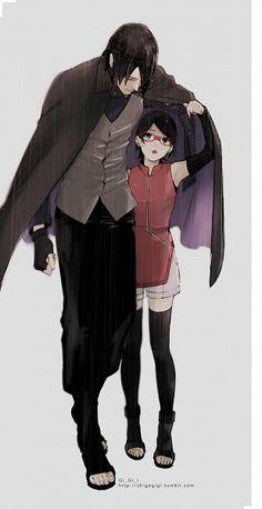sasuke uchiha, sarada uchiha