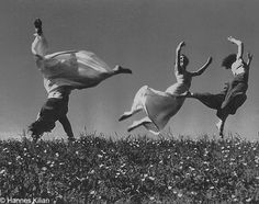 """And those who were seen dancing were thought to be insane by those who could not hear the music."" - Nietzsche (ph. Hannes Kilian - Bewegung Drei Mädchen 1938)"