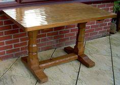 Antiques Atlas - Mouseman Table And 4 Chairs 4 Dining Chairs, Dining Table, Robert Thompson, Dining Suites, Oak Table, Golden Oak, Solid Oak, Mid Century, Antiques