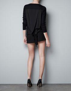 CHIFFON BACK SWEATER - Knitwear - Woman - ZARA United States