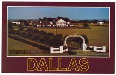 Texas glossy vintage postcard | Southfork Ranch | Dallas | TV series | western wall decor | rural | 1980s retro by Postcardigans on Etsy