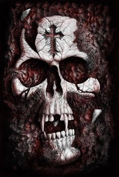 The Art of Andrew Dobell - Freelance Illustrator & Artist for Science Fiction, fantasy and Horror. Arte Horror, Horror Art, Crane, Vampire Skull, Skull Pictures, Wild Pictures, Skull Tattoos, Sleeve Tattoos, Grim Reaper