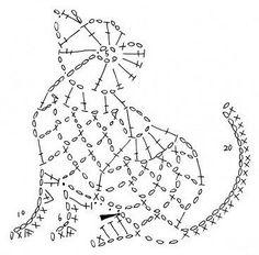 Knitting charts cat crochet ideas for 2019 Crochet Diy, Art Au Crochet, Crochet Amigurumi, Crochet Motifs, Crochet Diagram, Crochet Chart, Thread Crochet, Filet Crochet, Crochet Doilies