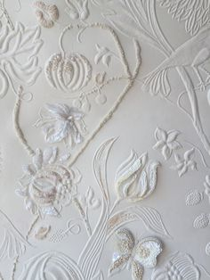 Embroidered Cordoba leather by Maison Fey and Atelier du Renard.
