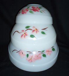 Pyrex Peach Blossom Nesting Mixing Bowl Set vintage Gay Fad FREE SHIP   $110 OBO