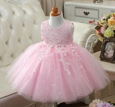 We love it and we know you also love it as well Sequin Baby Girl Clothes Weddings Pageant White/Red/Pink First Holy Lace Embroidery Communion Dress Children Birthday Tutu Gown just only $19.50 with free shipping worldwide  #babygirlsclothing Plese click on picture to see our special price for you