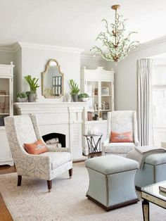 Pawleys Island Posh: Painted Brick Fireplace