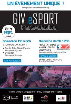 GIV eSport - Paris Saclay : programme des 3 et 4 septembre - Un grand tournoi…
