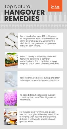 How to get rid of a hangover: 9 remedies - Dr. Axe