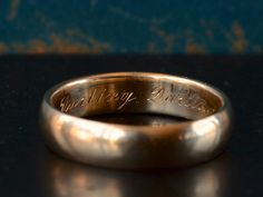 Thick Wedding Bands, Wedding Rings, Darling Darling, Rings For Men, Inspire, Engagement Rings, Gold, Vintage, Jewelry