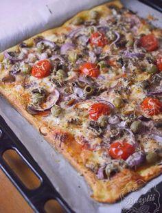 Pizza na ciescie francuskim Frittata, Pizza Recipes, Vegetable Pizza, Vegetables, Blog, Gastronomia, Vegetable Recipes, Blogging, Veggies
