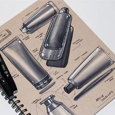 Shiny metallic food tubes for Astronauts, we'll probably all be eating from shiny tubes in 50 years or something Small Drawings, Easy Drawings, Easy Sketches, Drafting Drawing, Perspective Drawing, Toned Paper, Sketchbook Pages, Concept Architecture, Copics