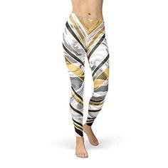 597cd3da98a29 Sports Leggings, Workout Leggings, Printed Leggings, Women's Leggings, Gym  Pants, Gold Stripes, Print Design, Marble, Women's Legwear