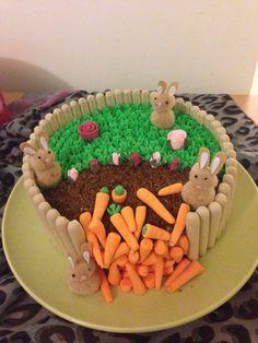 Easter rabbits carrot cake