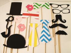 Photo booth Props Wedding Props Photo Props by IttyBittyWedding, $21.95