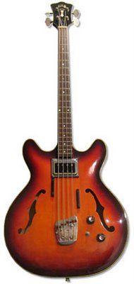 1960's Guild Starfire Bass Guitar.