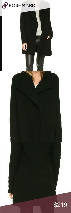 James Perse Open Front Cardigan This James Perse cardigan includes an open-front and semi-long-style that boasts wearability as much as an exquisite fabric and fit. He is about minimal fuss and maximum fashion style.  This one delivers on both with uber soft, cozy fabric that will look fantastic over jeans, leather pants, a short black dress and heels or any combo you can envision. This is a wardrobe essential! Size 3 (I'm 5'9 and I slipped it on- fit great!) James Perse Sweaters Cardigans