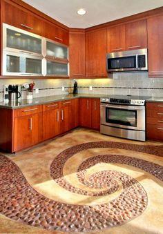 Polished Red Pebble Tile. Tile Kitchen FloorsFloor ...