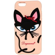 Dsquared2 Women 3d Cat Silicone Iphone 6 Case ($83) ❤ liked on Polyvore featuring accessories, tech accessories, cat, nude and dsquared2