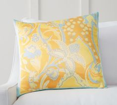 Floral Scarf Print Pillow Cover | Pottery Barn