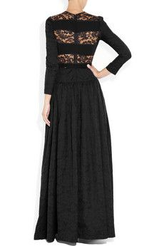 Alessandra Rich - Taffet & lace gown (Back)
