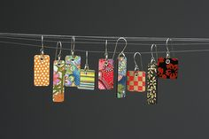 Paper Julep Earrings - Squared Minis Other jewelry and a Q & A with artist about her techniques.