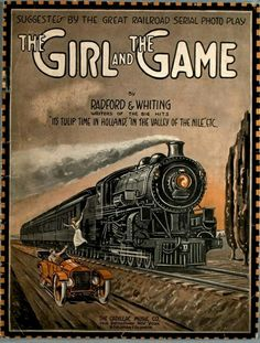 The Girl and the Game Sheet Music Art, Vintage Sheet Music, Vintage Ephemera, Vintage Art, Make A Joyful Noise, Advertising Slogans, The Big Hit, Railway Posters, Music Covers