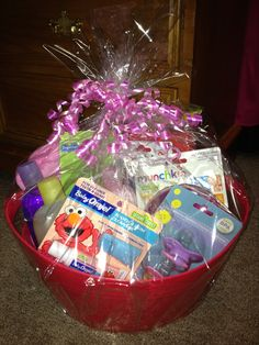 Elmo theme gift basket